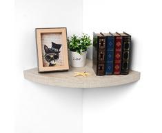 WOLTU Étagère Murale pour Petites Plantes en Pot/CD/DVD/Livres/,Dimensions 25x25x3,4cm,RG9240ei Chêne