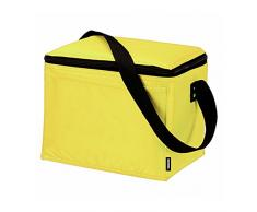 Ebuygb Lunch Time Sac isotherme, Polyester, Jaune