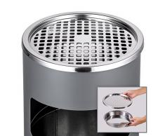 TecTake Cendrier sur pied extérieur avec poubelle + seau intérieur 30l anthracite
