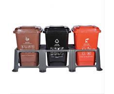 NOBRAND Poubelle extérieure de classification poubelle poubelle peut lieux publics avec roue de couverture grande boîte de fruits sanitation universelle 240 litres
