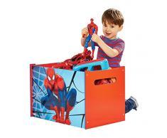 Spiderman 866014 Spiderman Coffre de rangement Bois Bleu et rouge 60 x 39,5 x 39,5 cm