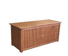Coffre de Rangement / Coffre de Stockage 133x58x55cm pour Coussins de Jardin