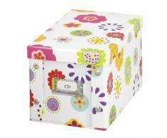 Zeller 17850 Kids Boite de rangement de CD en carton, 16,5 x 28 x 15 cm