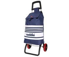 Caddie Bachata Poussette de marché Chariot de Course Pliable 2 Roues 50 litres Sac imperméable Lavable Couleur Bleu