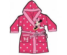 Mgs33 Peignoir Minnie Mouse Rose Candy pour Fille Age 4 Ans, Tout Doux, Superbe Couleur,Disney, avec Poches - Linge de bain