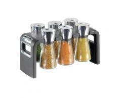 Cole & mason h100859 etagère à epices avec 6 flacons verre - Ustensiles