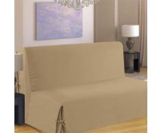 Homemaison.com hm69451650 housse de clic-clac à nouettes coton/polyester sable 200 x 140 cm - Fauteuils enfant