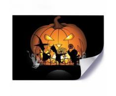 Feeby Poster Image imprimée Affiche Art décorative, Citrouille d'halloween 60x40 cm - Décoration murale