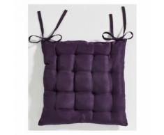 Galette de chaise matelassée 40 x 40 cm - Violet - Rideaux et stores