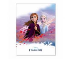 Disney Couverture polaire congelée II 100 x 140 cm blanc/violet - Linge de lit