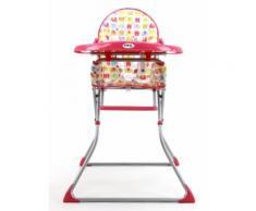 Chaise haute pliante Baby Fox Quick Elephant - Rose - Chaises hautes et réhausseurs