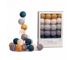 Guirlande lumineuse 20 boules - La Case de Cousin Paul - Memphis - les bleus - Lampes