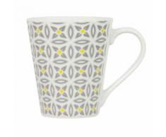Mug en porcelaine Aristo - Blanc décoré - vaisselle