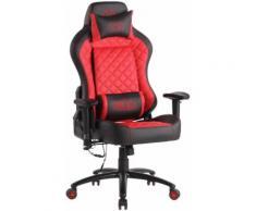 Fauteuil de Bureau / Chaise Gaming Rapid XM en Similicuir Assise chauffante et Fonction de Massage- Couleur Noir/Rouge - Sièges et fauteuils de bureau