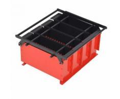 vidaXL Presse à papier de recyclage Acier 38 x 31 x 18 cm Noir et rouge - Cheminées, poêles