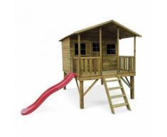 Maisonnette avec toboggan en bois FSC de 4,5m², Pivoine - Maisons de jardin