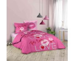 Parure de lit Sweet Pink 200x200 cm - Linge de lit