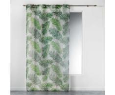 Voilage a oeillets 140 x 240 cm imprime green paradise - Rideaux et stores