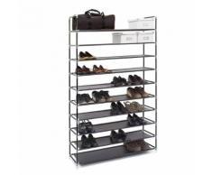 Étagère à chaussures - 50 paires de chaussures - Noir - Meubles à chaussures