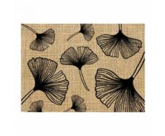 Set de table en toile de jute feuilles 3 - Linge de table