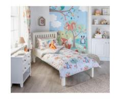 Riva Home Woodland - Draps housse - Enfant (Lit double) (Multicolore) - UTRV1060 - Equipement du lit