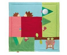 sigikid, 41529 Enfant Mixte Tapis d'Eveil Microfibre 100x100 cm, PlayQ Forêt Multicolore - Matelas Drap-Housse