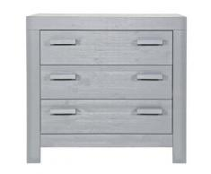Commode enfant pin massif brossé gris, H91 x L95 x P52 cm - PEGANE - - Autre mobilier bébé
