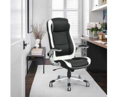 Fauteuil de bureau noir PU MEUBLE EXPRESS - Sièges et fauteuils de bureau
