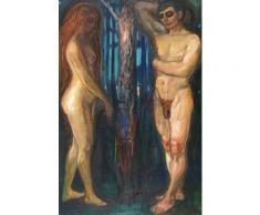 Edvard Munch Papier Peint Photo/Poster Autocollant - Métabolisme, 1898-1899 (180x120 cm) - Décoration murale