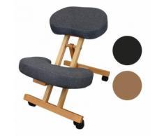 Tabouret, chaise ergonomique, siège assis genoux en bois pliable et réglable - Gris - Sièges et fauteuils de bureau