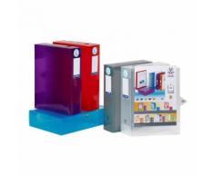 Lot de 8 boites de classement et archivage en plastique - 6 couleurs assorties Viquel Multicolore - Boite de rangement