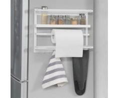 SoBuy® FRG247-W Étagère à suspendre pour réfrigérateur étagère à épices magnétique en métal - blanc - Mobilier de Jardin