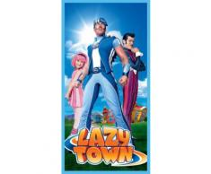 Lazy Town serviette de bain bleu/orange 70 x 140 cm - Tapis de bain