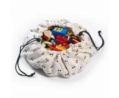 Mini sac à jouets et tapis de jeux 2 en 1 Cerise en or Play and Go - Coffre à jouets et rangements