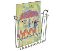 Interdesign classico, porte-magazine et journaux pour salle de bains ou toilettes - support mural, chrome - Accessoires de rangement