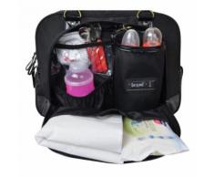 sac a langer - sac a langer- sac daily black - 3 compartiments 10 poches tapis a langer sac repas thermo étui tétines, sac linge - Sacs à langer