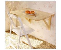 SoBuy® FWT04-W Table murale rabattables, Table de cuisine pliante, Table à rabat pour enfant pliable - Tables de cuisine