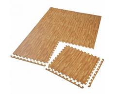 TECTAKE Tapis de Sol de Gym Sport avec 6 Dalles de Protection en Mousse 61 cm x 61 cm Marron - Gymnastique