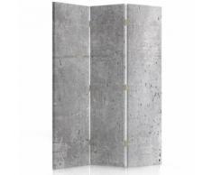 Feeby Paravent rotatif Cloison amovible intérieur 3 panneaux, Surface bétonnée Imitation 110x150 cm - Objet à poser