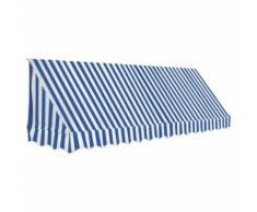 vidaXL Auvent de bistro 350x120 cm Bleu et blanc - Matériel de construction toiture