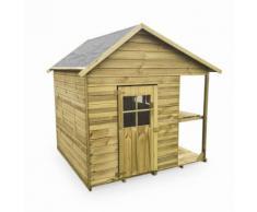 Maisonnette avec étalage en bois FSC de 2,6m², Hortensia - cabane pour enfants - Maisons de jardin