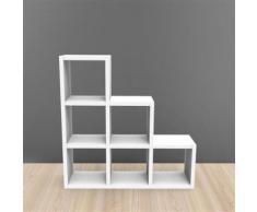 Meuble De Rangement 6 Cases Escalier - Ep.30 Mm Kubin - Étagère