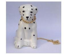 Dalmatien assis avec laisse en porcelaine 10cm - chien - animaux - figurine - Statuette