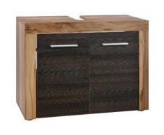 Maisonnerie 1259-301-59 cancun meuble sous lavabo noyer finition satinée lxhxp 72 x 56 x 34 cm - Accessoires de rangement
