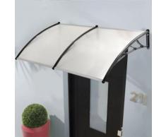 Auvent de porte marquise d'accueil 80X240 CM polycarbonate - Matériel de construction toiture