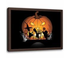 Feeby Image encadrée Impression Tableau mural cadre marron, Citrouille d'halloween 60x40 cm - Décoration murale