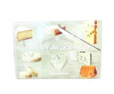 Les Trésors De Lily [M3805] - Planche à découpe / dessous de plat 'Terroir Français' maison du fromage (30x20 cm) - Ustensile de cuisine
