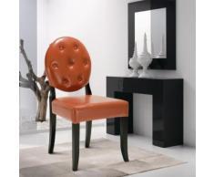 Chaise capitonnée contemporaine en cuir PU - iKayaa x Interougehome - Chaise