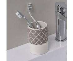 set accessoires salle de bain Gobelets a dents imprimé - Dolomite - H11 x Ø7,5 cm - Accessoires de bain