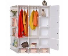Vêtements chaussures placard organisateur rack de stockage penderie portable maison cintre chaussure - Boite de rangement